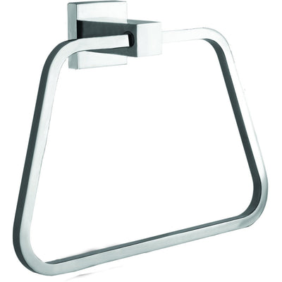 ME Cubo Brass Closed Towel Ring Holder / Towel Hanger, Polished Chrome - AGM Home Store LLC