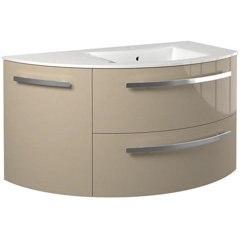 LaToscana Ambra 38 in. Wall Mounted Bathroom Vanity Left Round Cabinet Set Bath Furniture - AGM Home Store LLC
