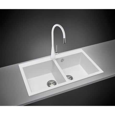 "LaToscana Drop in sink Plados 34"" x 20"" Double Basin Granite Kitchen - AGM Home Store LLC"