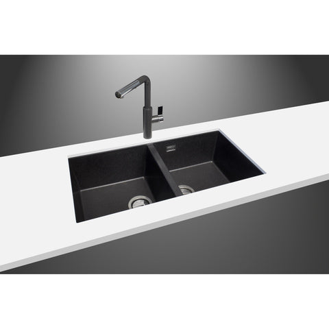 "LaToscana Double Basin Sink Plados 34"" x 18""Granite Kitchen Undermount - AGM Home Store LLC"