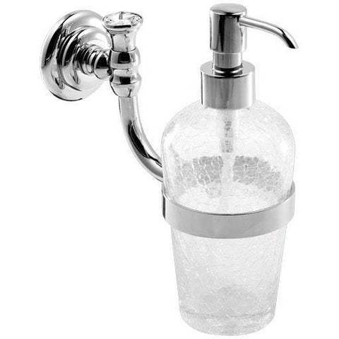 GM Luxury Brilla Crackled Glass Wall Pump Liquid Soap Lotion Dispenser Bathroom - AGM Home Store LLC