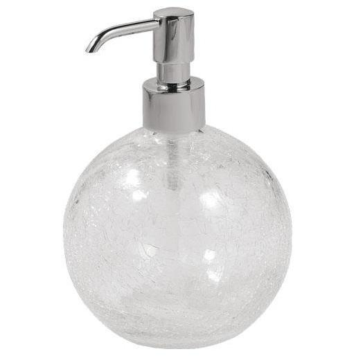 GM Luxury Brilla Crackled Glass Standing Ball Pump Liquid Soap Lotion Dispenser - AGM Home Store LLC