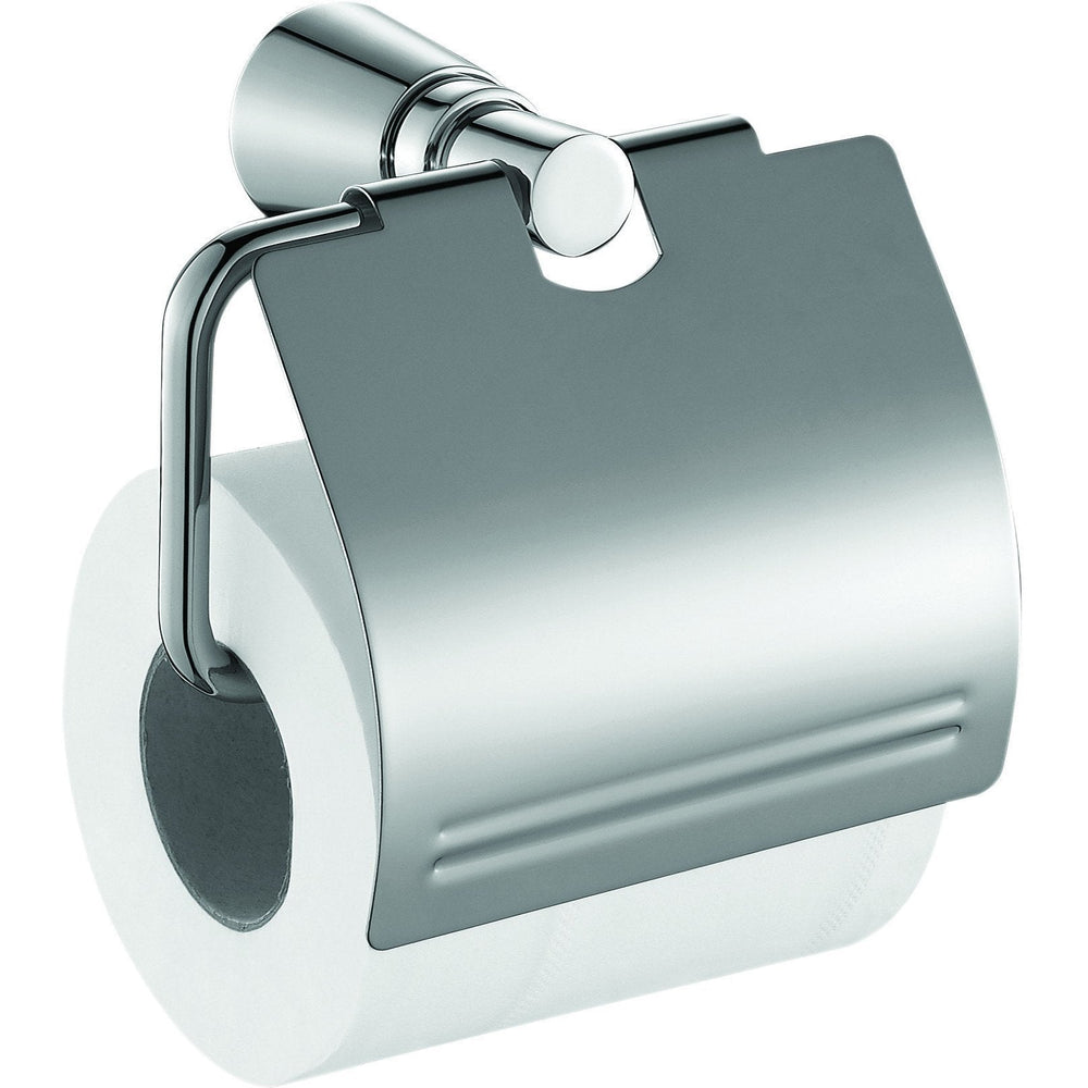 ME Tonda Toilet Paper Holder/ Roll Tissue Holder W/ Lid Cover Polished Chrome - AGM Home Store LLC