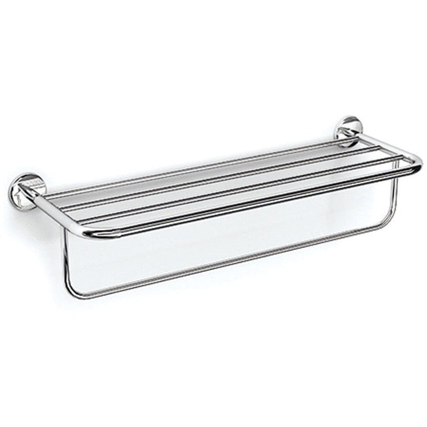 Lux Atlanta Chrome Wall Towel Rack Bath Storage Shelf With Towel Bar, Brass - AGM Home Store LLC