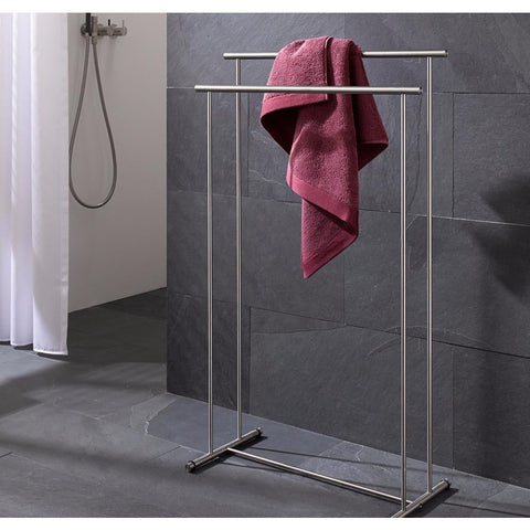 PSBA Standing Towel Bathroom Rack Stand Bar 23.5-inch Towel Holder - More Sizes Available - AGM Home Store LLC