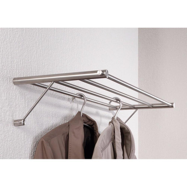 PSBA Shelf Towel Hanging Bath Storage Towel Rack Holder Stainless Matte Steel - More Sizes Available - AGM Home Store LLC