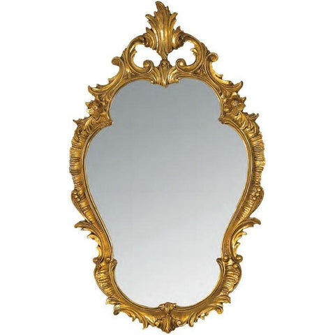 GM Luxury Abruzzo Decorative Wall Art Mirror for Elegant Design, Gold Leaf 22.8x38.6 - AGM Home Store LLC