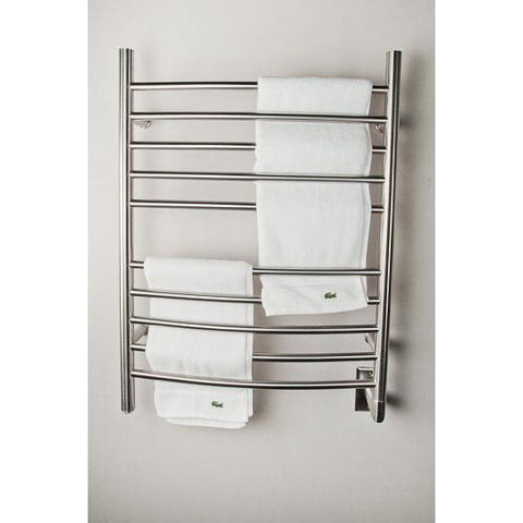 Amba RWH-CB Radiant Hardwired Curved Towel Warmer, Brushed Stainless Steel - AGM Home Store LLC