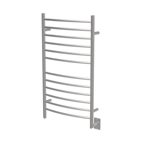 Amba RWHL-CB Radiant Large Curved Hardwired Towel Warmer Brushed Stainless Steel - AGM Home Store LLC