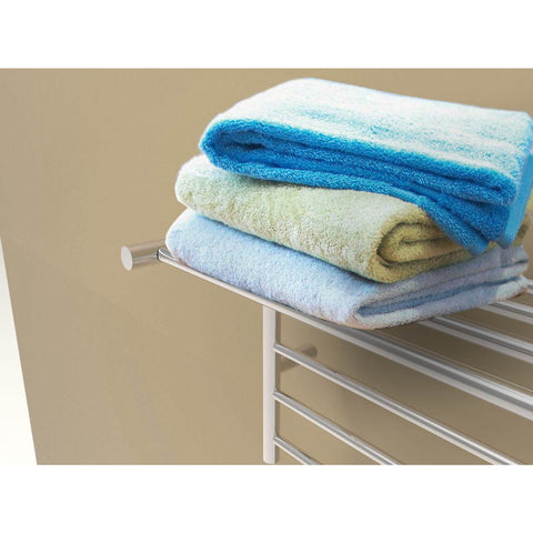 Amba RSH-B Wall-Mounted Towel Warmer with Shelf, Brushed Stainless Steel - AGM Home Store LLC