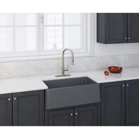 LaToscana Apron Front Kitchen Countertop Sink Farmhouse Single Bowl Granite 33 x 19 inches - AGM Home Store LLC