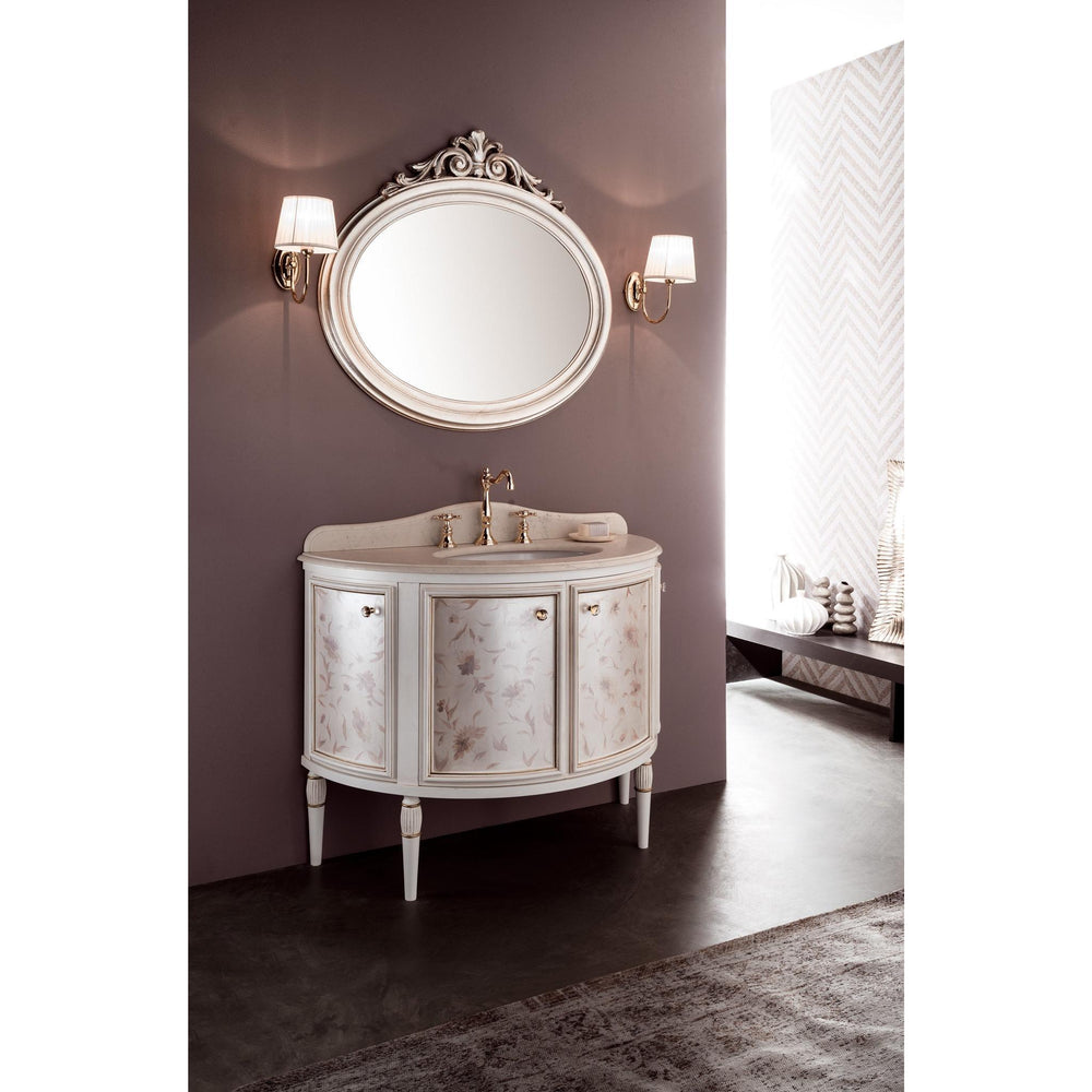 "GM Luxury Arcor 43"" Bathroom Vanity Decorated Cabinet Set Single Sink W/ 4 Doors - AGM Home Store LLC"
