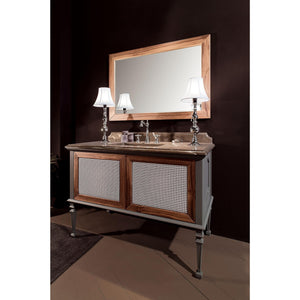 "GM Luxury Atelier 49.6"" Bath Vanity Cabinet Single Sink Toulipier Wood, Walnut & Gray Finish - AGM Home Store LLC"