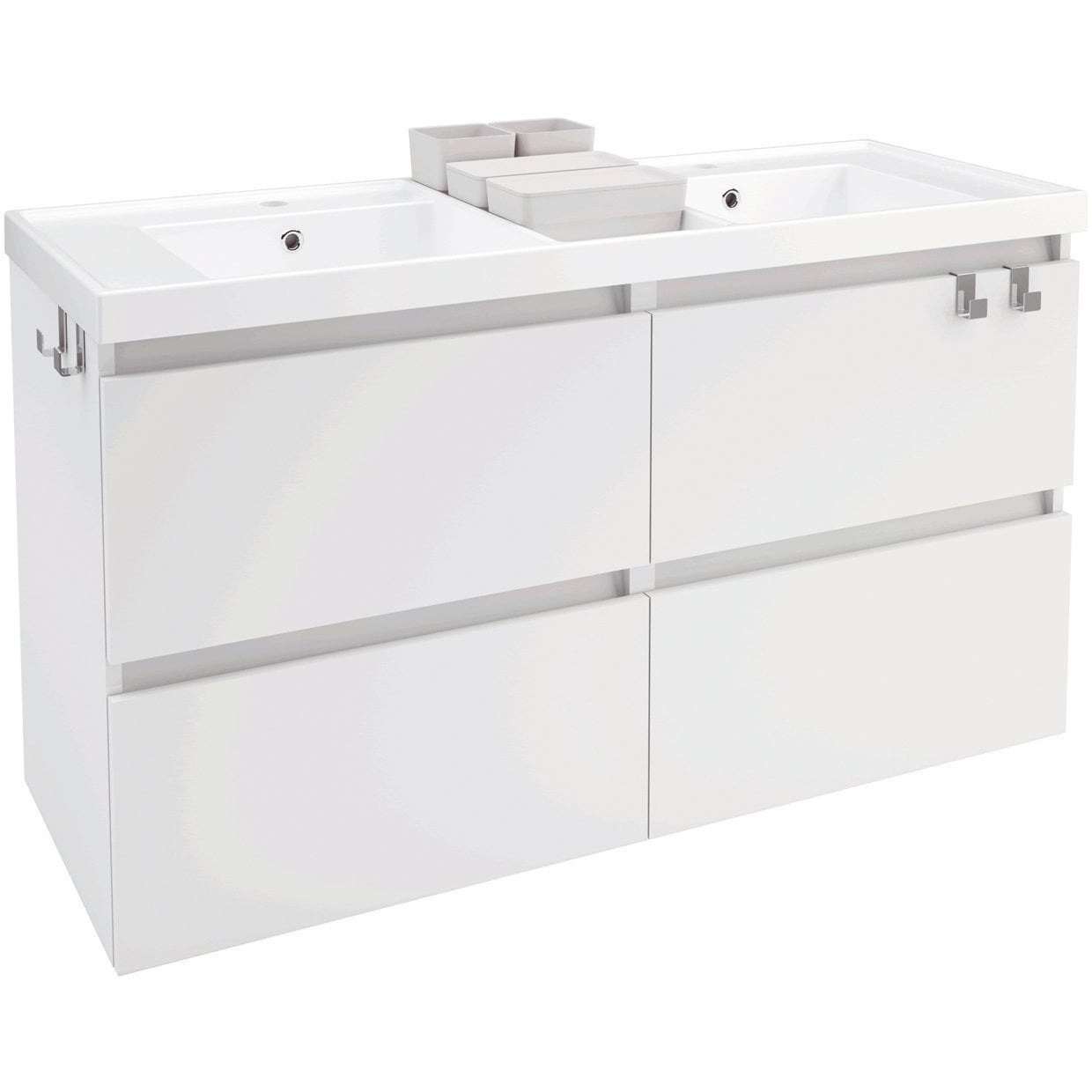 Box 48 In Wall Mounted Bathroom Vanity 4 Drawers Cabinet With Resin Washbasin Dormic Bath Collection Bathroom Vanities And Sink Consoles 2500 00 3000 00 4 Drawers 44 To 50 Inches Anthracite Ash