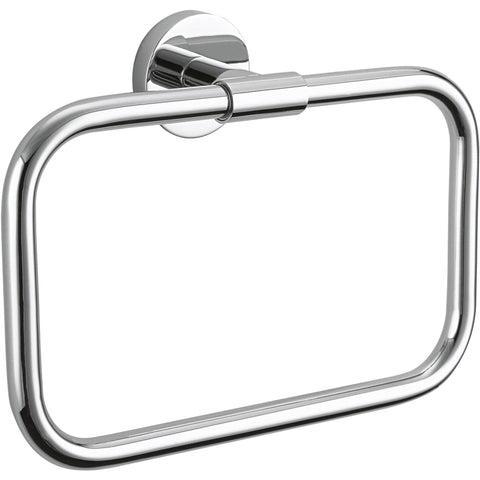 BA HTR Brass Wall Rectangular Closed Towel Ring Holder Towel Hanger Towel - AGM Home Store LLC