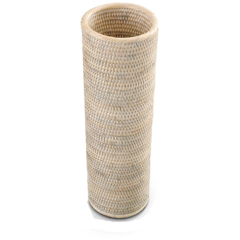 BASKET ERH Malacca Round Free Standing Toilet Paper Holder Bathroom Storage - Rattan - AGM Home Store LLC