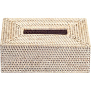 BASKET KBX Malacca Tissue Box Holder Cover Tray Dispenser Tissue Case - Rattan - AGM Home Store LLC