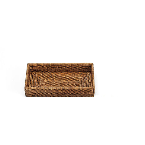 DWBA Malacca Bathroom Vanity Countertop Guest Towel and Organizer Tray - Rattan - AGM Home Store LLC