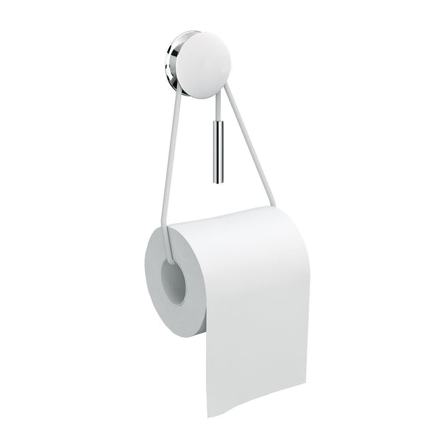 Bolo Self-Adhesive Toilet Paper Holder Tissue Roll Dispenser with Cord, Chrome - AGM Home Store LLC