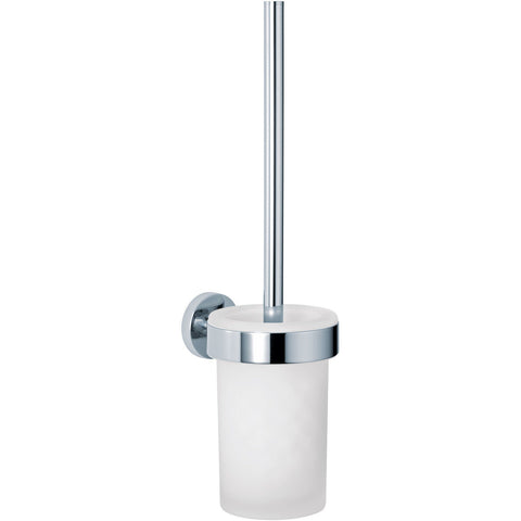 DWBA Wall Mounted Toilet Bowl Brush and Holder Set. Polished Chrome
