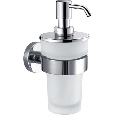 dwba glass soap lotion dispenser pump for kitchen bathroom wall mounted chrome agm