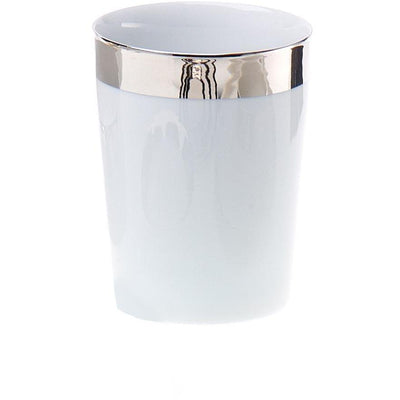 DWBA Round Porcelain Bath Toothbrush Holder With Rim Standing Toothpaste Tumbler - AGM Home Store LLC