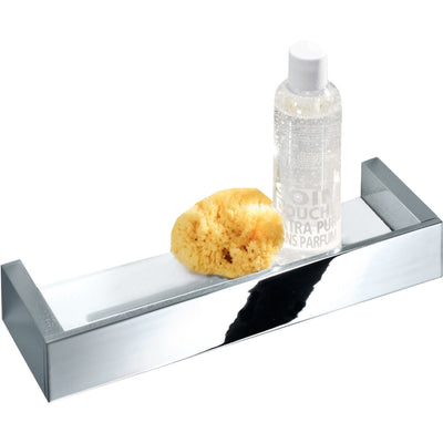 DWBA Wall Bath Shower Caddy Shelf for Shampoo Conditioner Soap - Brass & Acrylic - AGM Home Store LLC