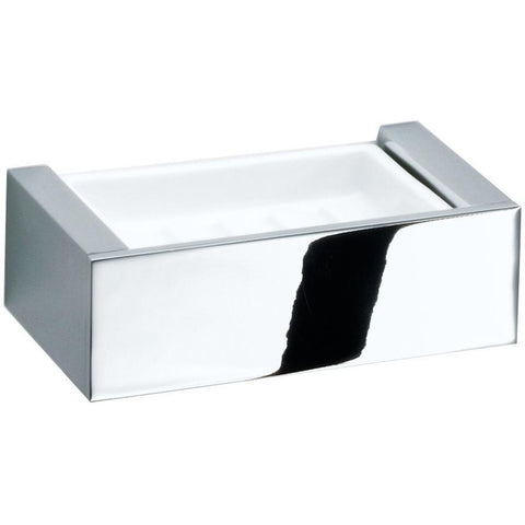 BK WSS Berlin Wall Soap Dish Holder Porcelain Tray Soap Holder - Porcelain & Brass - AGM Home Store LLC