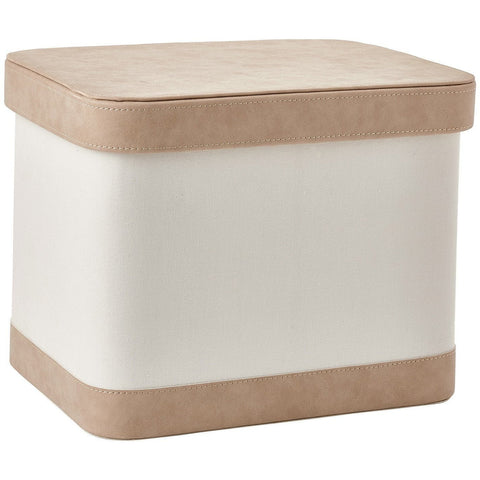 Blix Bath Storage Bin with Lid, Basket Organizer for Towels, Magazines, Toys - AGM Home Store LLC