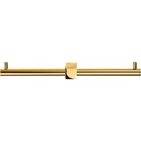 BQ TPH2 Wall Double Toilet Paper Holder W/O Lid, Roll Tissue Holder - Gold - AGM Home Store LLC