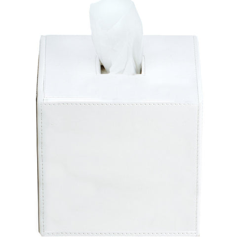 KB 41 Square Artificial Leather Tissue Box Holder Tray Dispenser Tissue Case - AGM Home Store LLC