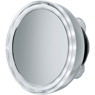"DWBA 5"" Round Suction cup 5x Cosmetic Makeup Magnifying LED light Mirror, Chrome - AGM Home Store LLC"