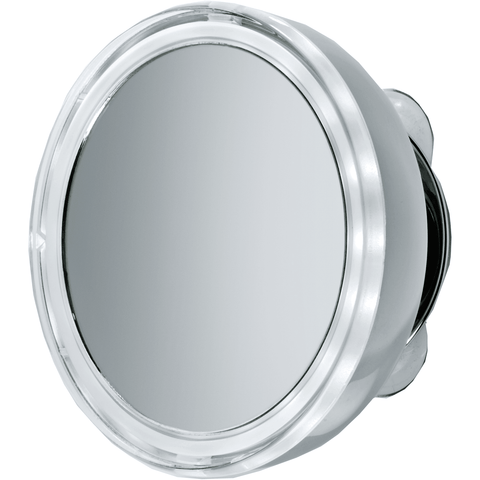 "DWBA 5"" Round Suction cup 5x Cosmetic Makeup Magnifying LED light Mirror, Chrome"