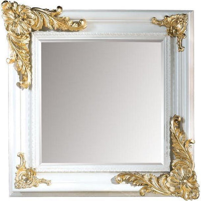 GM Luxury Bazille Square Decorative Wall Art Mirror for Elegant Design, Leaf 39.4x39.4 - AGM Home Store LLC