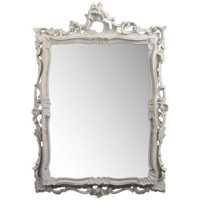 GM Luxury Bernini Rectangular Decorative Wall Art Hand Carved Mirror, Solid Wood 32x45 - AGM Home Store LLC