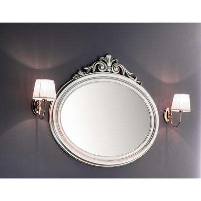 GM Luxury Blake Oval Decorative Wall Art Hand Carved Mirror, Leaf 37.8x35.4 - AGM Home Store LLC