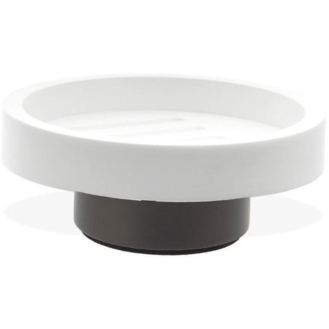 CENTURY STS Round Bathroom Soap Dish Holder Tray Soap Holder, Soap Saver, Solid Surface - AGM Home Store LLC