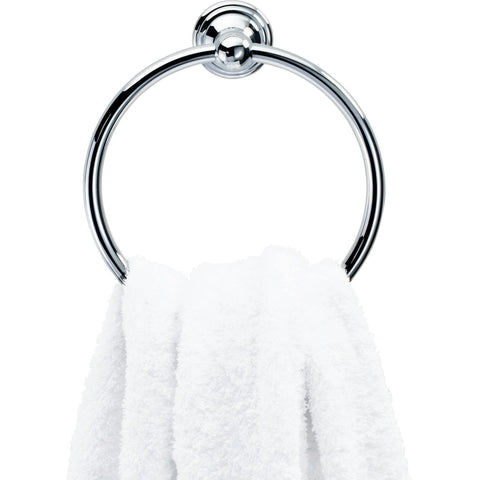 CL HTR Towel Rail Ring Holder Bathroom Hand Towel Holder Towel Hanging - Brass Chrome - AGM Home Store LLC