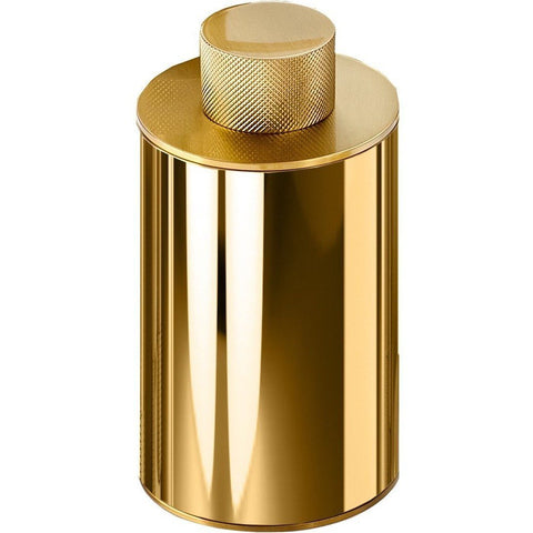 CLUB BMD Round Cotton Ball Swab Q Tip Holder Jar Canister for Bath, Solid Brass 5 Oz - AGM Home Store LLC