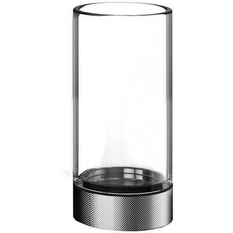CLUB SMG Round Glass Bathroom Toothbrush Holder Standing Toothpaste Tumbler - AGM Home Store LLC