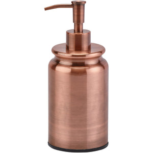 Cobre Round Bath or Kitchen Pump Liquid Soap Lotion Dispenser, Stainless Steel - AGM Home Store LLC