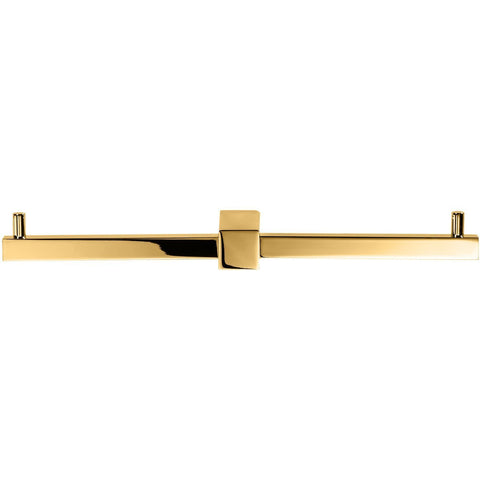 CO TPH2 Wall Double Toilet Paper Holder W/O Lid, Square Roll Tissue Holder - Gold - AGM Home Store LLC