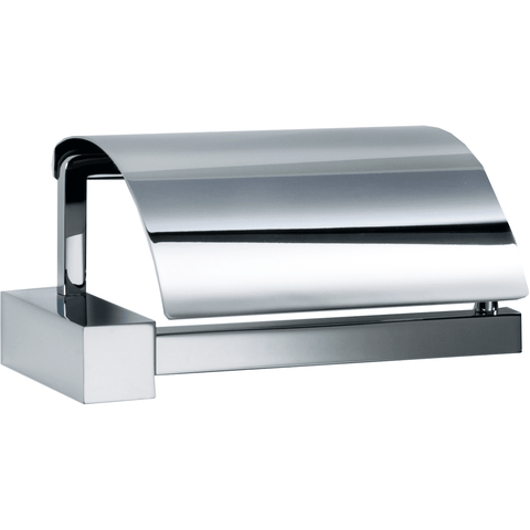 CO TPH4 Wall Mounted Toilet Paper Holder W/ Lid Cover Tissue Roll Dispenser - Chrome - AGM Home Store LLC