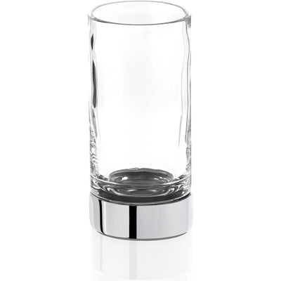DWBA Round Bathroom Toothbrush Holder Standing Toothpaste Tumbler, Clear Glass - AGM Home Store LLC