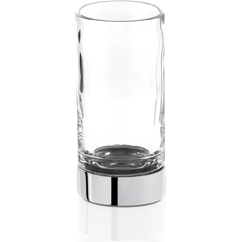 CENTURY SMG Round Bathroom Toothbrush Holder Standing Toothpaste Tumbler, Clear Glass - AGM Home Store LLC