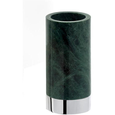 DWBA Round Bathroom Toothbrush Holder Standing Toothpaste Tumbler, Green Marble - AGM Home Store LLC