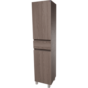 Wall Mounted Cabinets: Standing/ Wall Mounted Storage Tall Bathroom Cabinet, 1 Drawer 2 Doors Estope/ White/ Wenge - AGM Home Store LLC