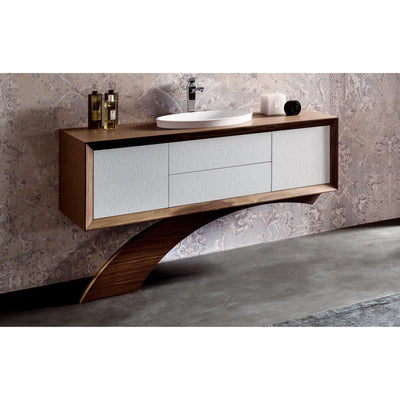 "GM Luxury Contempora 59"" Bathroom Vanity Cabinet Set Decorated, Single Sink - AGM Home Store LLC"