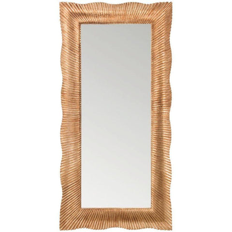 GM Luxury Croazia Rectangular Full Length Wall Art Hand Carved Mirror, Antique Gold Leaf 35.4x71 - AGM Home Store LLC