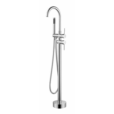 Vanity Art Freestanding faucet with hand shower in polished chrome VA2012-PC - AGM Home Store LLC